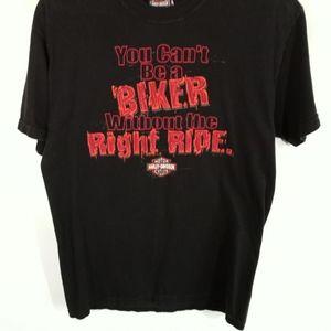 Harley Davidson Bar & Shield Slogan Black T-shirt